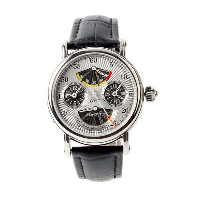 Seagull Dual Time Zone GMT Power Reserve Retrograde Date Automatic Men's Watch