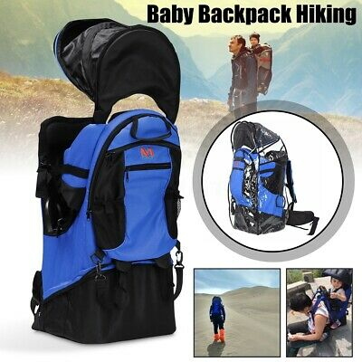 Baby Backpack Camping Hiking Child Kid Toddler Carrier Shade Visor Rain Cover US