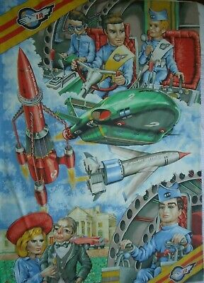 Vintage 1992 Thunderbirds Reversible Duvet Cover Without Pillowcase
