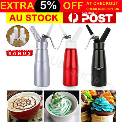 500ml CREAM WHIPPER Whip Coffee Dessert Butter Dispenser CHARGERS FOAM WHIPPED A