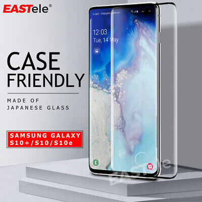 EASTele 6D Tempered Glass Screen Protector For Samsung Galaxy S10e S10 S10 Plus