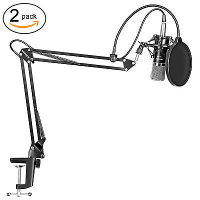 NW-700 Microphone Kit with Microphone Scissor Arm Stand Shock MountMask Shield