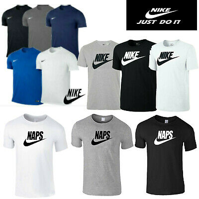 Mens Nike Tick Tees Crew Neck Running/Football/Gym Sports Short Sleeves T-shirt