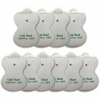 10 Pcs Snap On Replacement Electrode Pads For Tens Unit Therapy Massager Machine