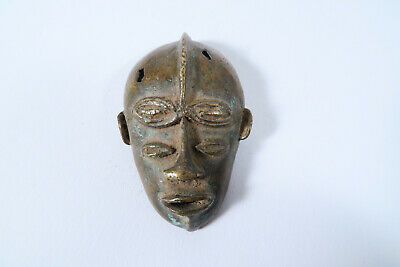 Altes Goldgewicht Maske Akan Baule AS55 Old Goldweight Mask Poid Afrozip