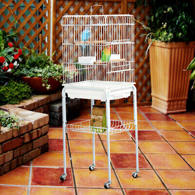 Large Bird Cage Parrot Cockatiel House Metal Stand with Wheels High Quality