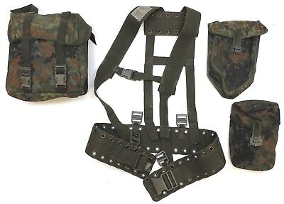 GERMAN ARMY WEBBING Set Pouches Belt With Italian Shoulder