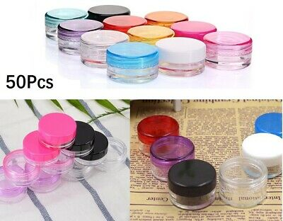 5ml Travel Bottle Plastic Make Up Cream Sample Cosmetic Container Jar Pot Clear