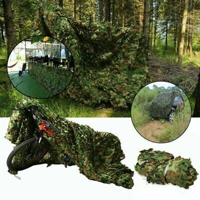 Woodland Leaves Camouflage Netting Military Camo Cover Hunting Shooting Hide Net