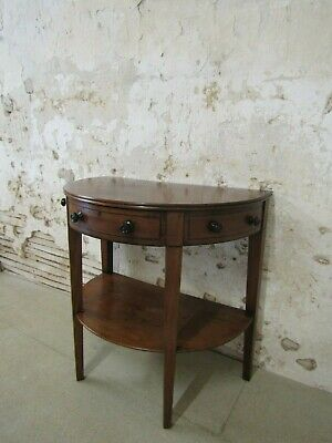 Antique Mahogany Demi Lune, Console Table, Early 19th Century