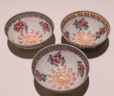 3 Chinese Eggskin Porcelain Cups       #326