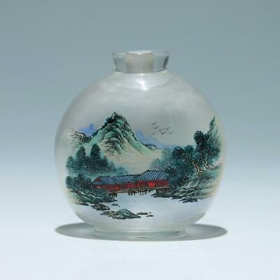 Chinese Inside Painted Crystal Snuff Bottle       #389