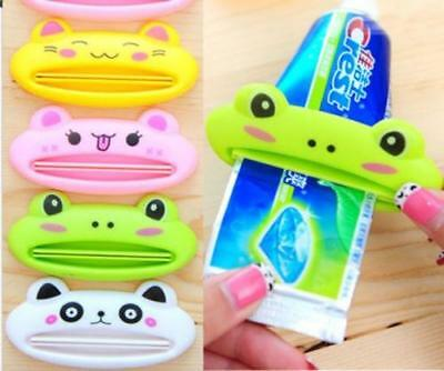 Bathroom Home Rolling Tube Holder Squeezer Easy Cartoon Toothpaste Dispenser JD