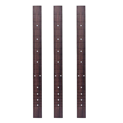 3x Rosewood Guitar Fretboard for 3 String Cigar Box Luthier Supplies DIY