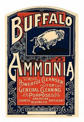 Vintage C1910 Advertising Label Buffalo Genuine New York Nos For Old Bottle