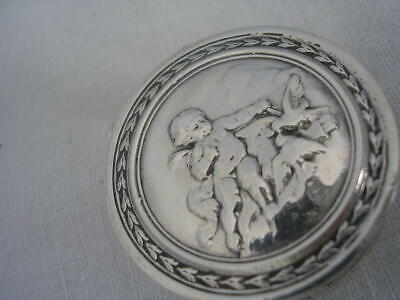 FRENCH  Silver BOX Colombes Putto Angelot Boîte pilules ARGENT MASSIF Louis XVI