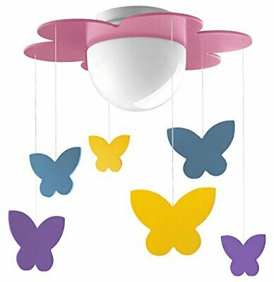 Philips Meria Lampada da Soffitto, Lampadina LED Inclusa, Fucsia (E4x)