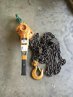 Harrington LB030 3 Ton Manual Lever Chain Hoist - 20FT lift Come Along