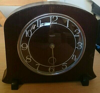 Lovely Vintage Smiths 8 Day, Art Deco, Mantle Clock, Great Britain