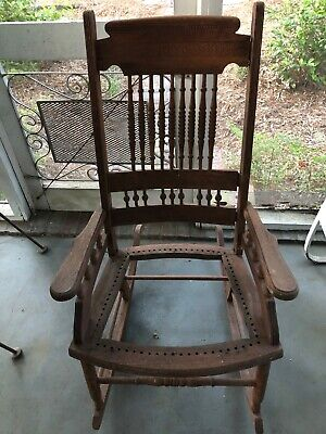 Antique Rocking Chair with Arms