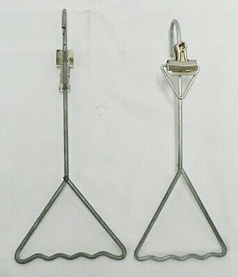 Pair Of Vintage Clothing Hangers With Receipt Clips