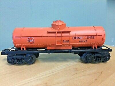 Lionel Lines No. 6025 Gulf Railroad Tank Car
