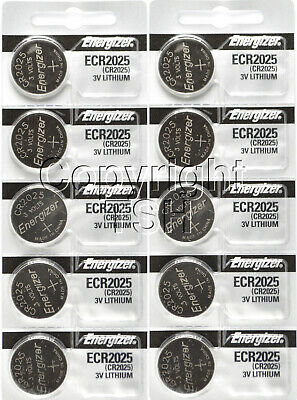 10 pcs 2025 Energizer Watch Batteries CR2025 CR 2025 3V Lithium Battery 0%HG
