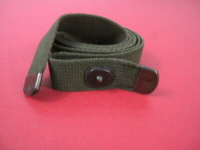 WWII Era US Army M1 Carbine Canvas Rifle Sling w/D-Tips - OD Green - Unissued