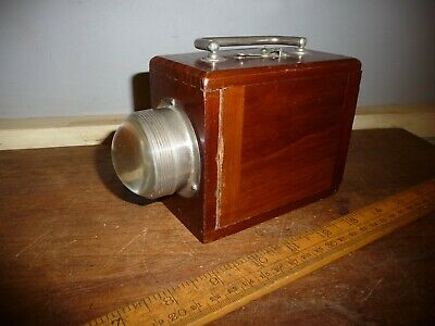 WW1 1914 dated Wooden Ever-Ready Trench Torch with Bullseye lens in VGC