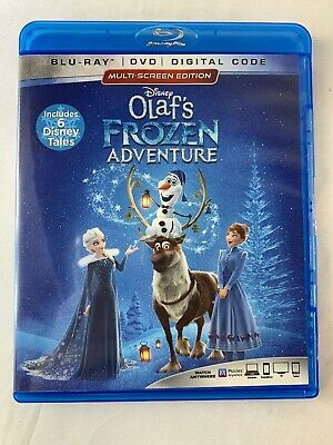 Olaf's Frozen Adventure ( Blu-Ray/DVD) No Digital  Disney 6 Short Tales