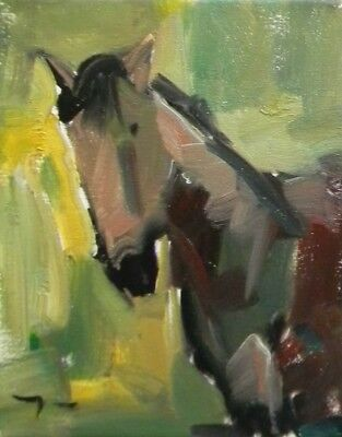 JOSE TRUJILLO Original OIL PAINTING MODERN Collectible Horse Expressionist ART