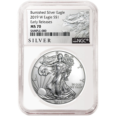 2019-W Burnished $1 American Silver Eagle NGC MS70 ALS ER Label