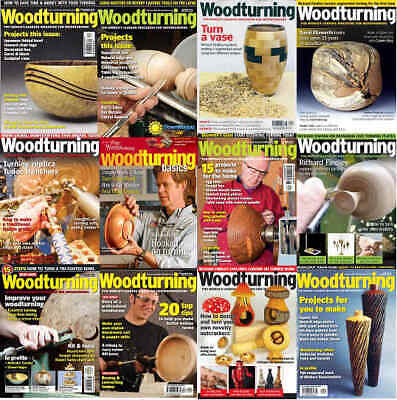 Magazine - Woodturning Carpentry Wood Work Contents Index Shown - Various Issues