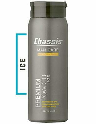Chassis Premium ICE Body Powder for Men - With Extra Cooling Sensation and Fresh