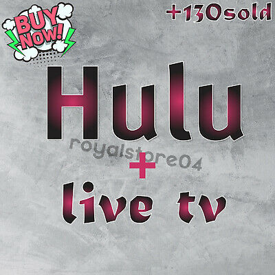 Hulu Premium Account Live Tv ✅ | NOT SHARED | FULL WARRANTY |🚀 Fast Delivery🚀