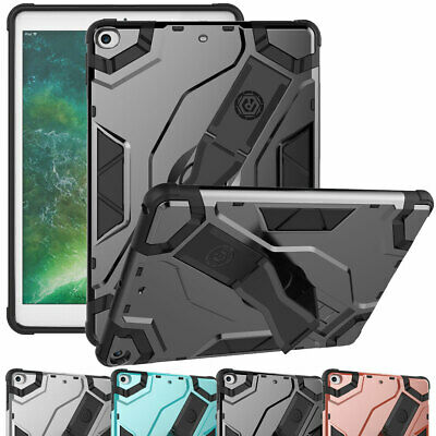 For iPad 9.7 5th 6th Generation Air Case Shockproof Rugged Defender Strap Cover