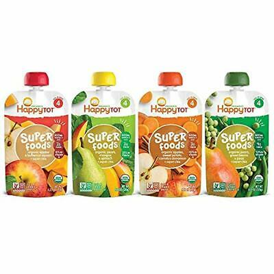 Happy Tot Organic Stage 4 Super Foods Variety Pack, 4.22 Ounce Pouch (Pack of 16