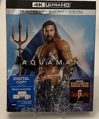 Dc Aquaman 4K Ultra Hd Blu-Ray 2 Disc Set + Slipcover Sleeve Sealed New!