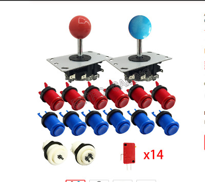 Arcade Game Parts DIY Kit with Sanwa Type Joystick  American Style Push Buttons