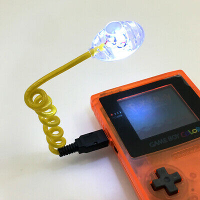 Yellow Flexible Worm Light Illumination LED Lamps for Gameboy GBA GBC GBP GBA SP