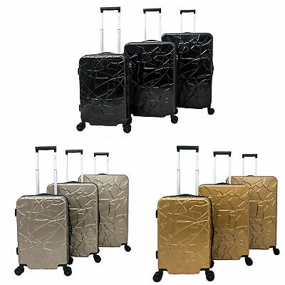 4f06cd1a6 CHARIOT DOG 3-PIECE Expandable Hardside Light Spinner Luggage Set ...