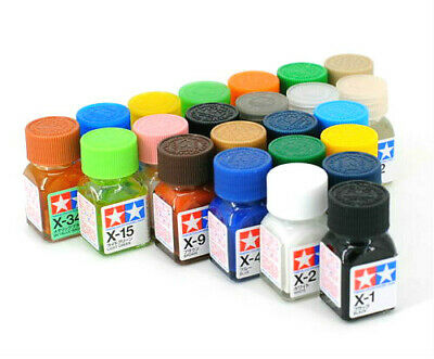 O Tamiya Enamel Color Paint Gloss 80001-80028 X-1 to X-34 10ml For Model Kit New