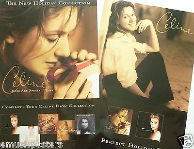 "CELINE DION ""THESE ARE SPECIAL TIMES"" 2-SIDED U.S. PROMO ALBUM POSTER -Pop Diva!"