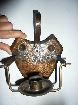 Antique hammered copper Candle holder Roycroft  Arts & craft Mission