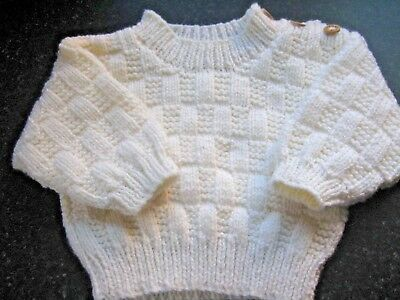 Lovely Hand Knitted Baby Jumper Size 0-3 Months