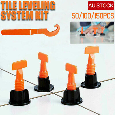 Tile Leveling System Floor Wall Alignment Adjustable Clip Reusable Hand Tool AU