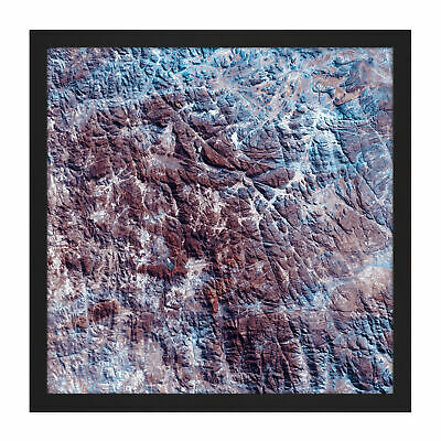 Abstract Mountains Texture Square Framed Wall Art 16X16 In