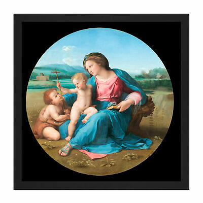 Raphael The Alba Madonna Square Framed Wall Art 16X16 In