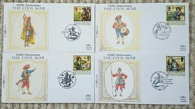 350th Anniversary The Civil War Benham Silk 4 Covers + Inserts Excellent.