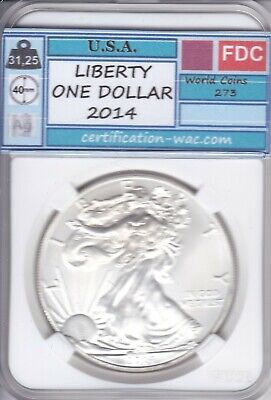 Liberty One Dollar 2014 Silver-Argent U.s.a.